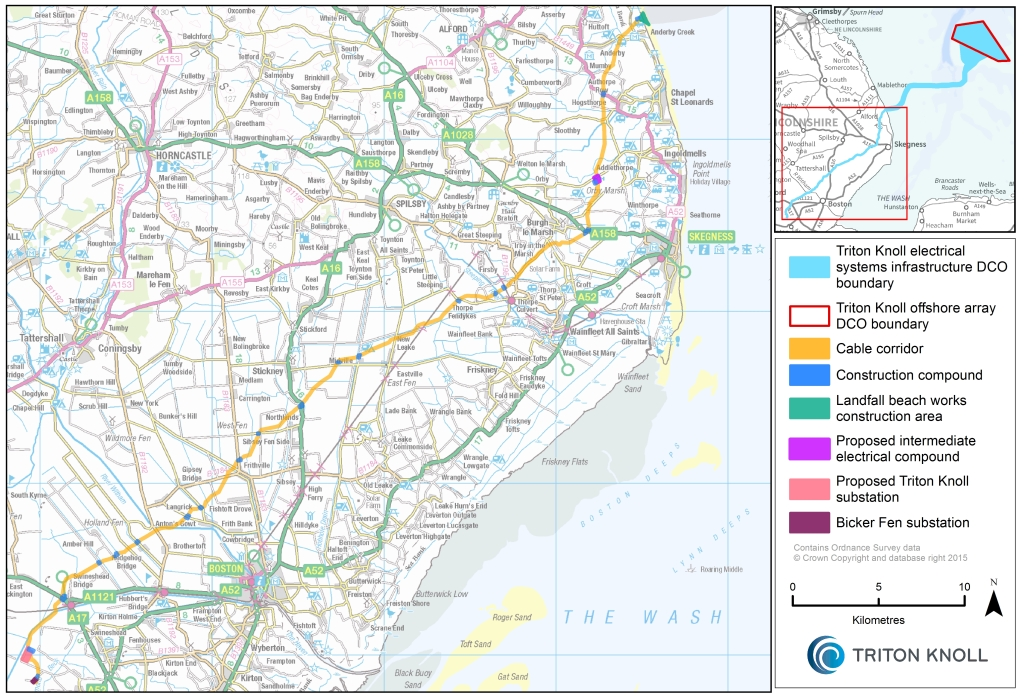 Onshore cable route
