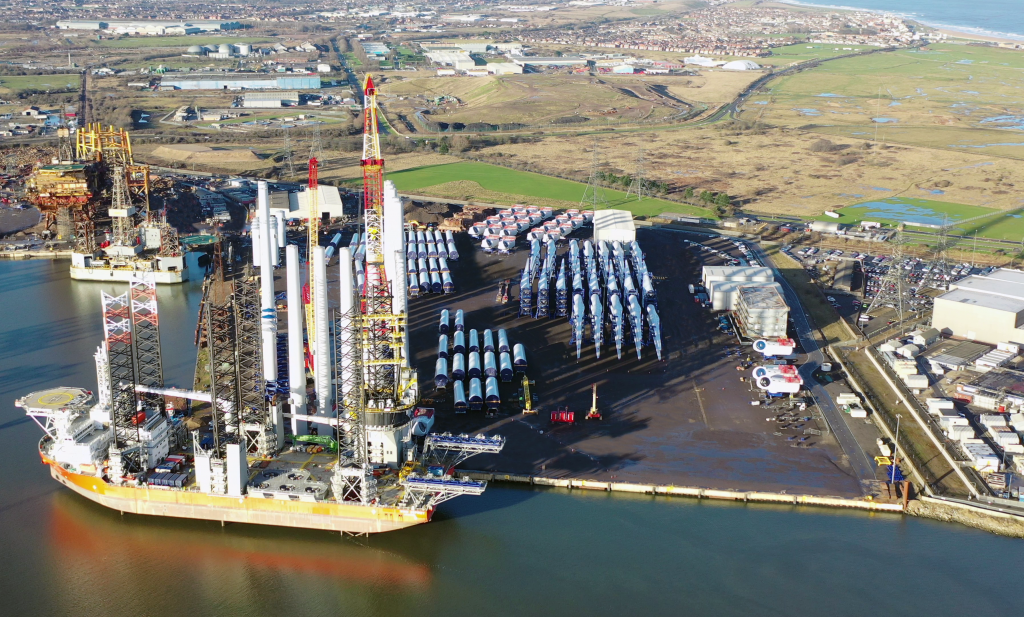 Loadout process at Able Seaton Port